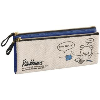 【San-X】拉拉熊休閒自由風系列帆布筆袋包