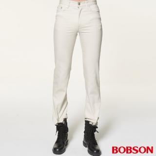 【BOBSON】男款低腰喇叭褲(白1696-80)