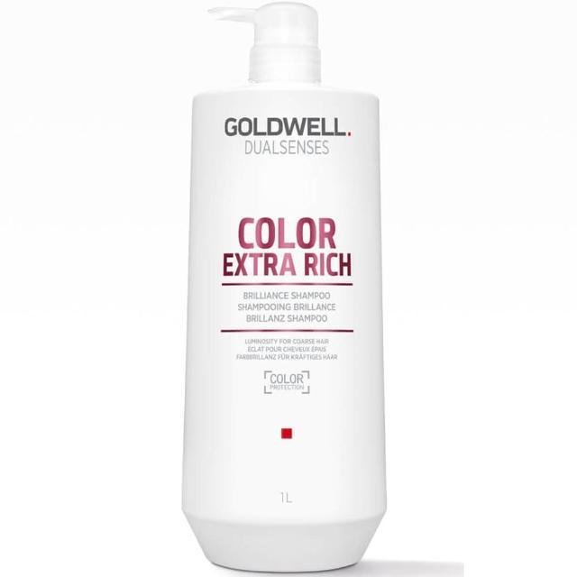【GOLDWELL 歌薇】光感豐潤洗髮精1000ml(染後缺乏光澤及毛躁髮質適用)