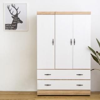 【時尚屋】佛蒂雅原切白4x6尺開門下二抽衣櫃(免運費 免組裝 臥室系列 衣櫥)