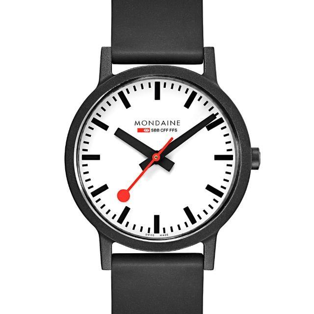 【MONDAINE 瑞士國鐵】essence系列腕錶-41mm(白)