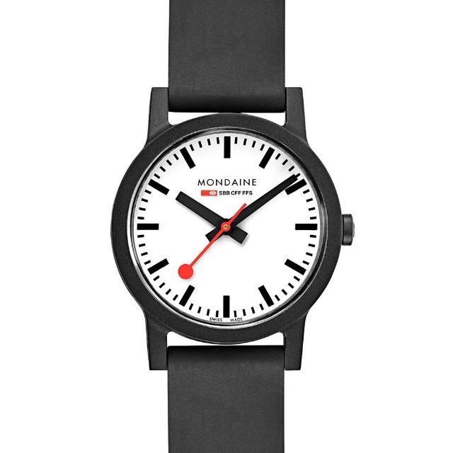 【MONDAINE 瑞士國鐵】essence系列腕錶-32mm(白)