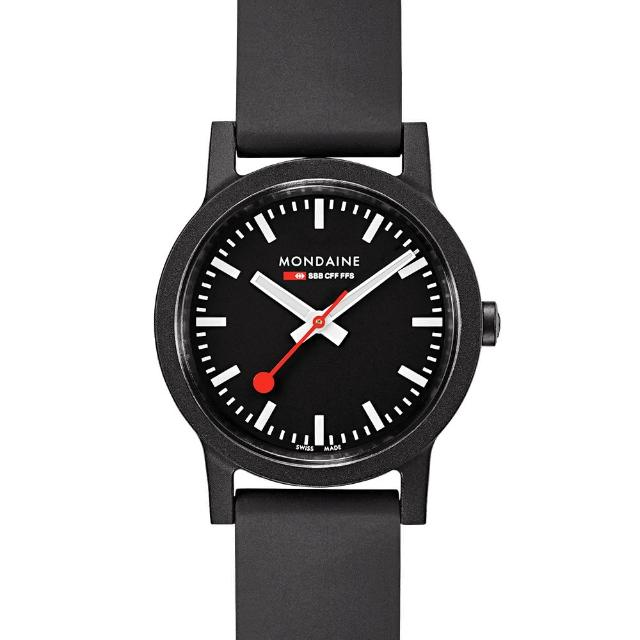 【MONDAINE 瑞士國鐵】essence系列腕錶-32mm(黑)