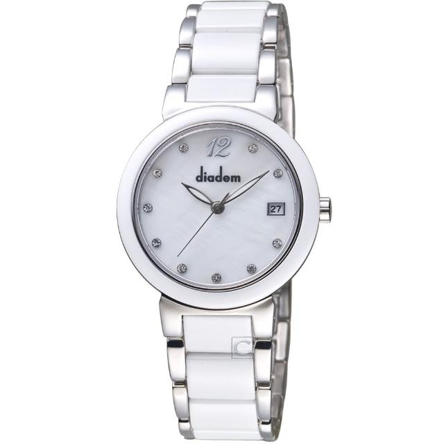【Diadem 黛亞登】經典時尚陶瓷腕錶(7D1712-521S-S)