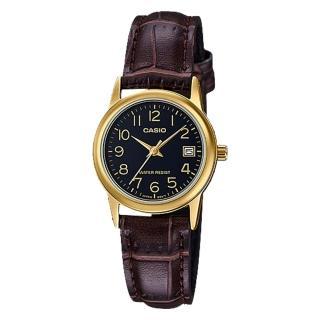 ~CASIO 卡西歐~指針女錶 皮革錶帶 防水 日期顯示 LTP~V002GL~1B