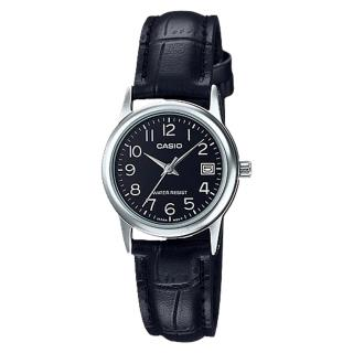 ~CASIO 卡西歐~指針女錶 皮革錶帶 防水 日期顯示 LTP~V002L~1B