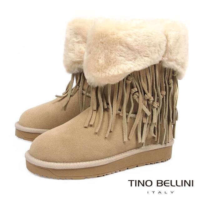 【TINO BELLINI 贝里尼】波西米亚毛领雪靴B69048(杏)