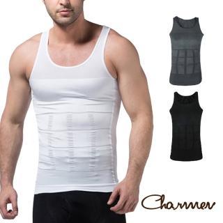 【Charmen】坦克加壓版背心 男性塑身衣(4色任選)