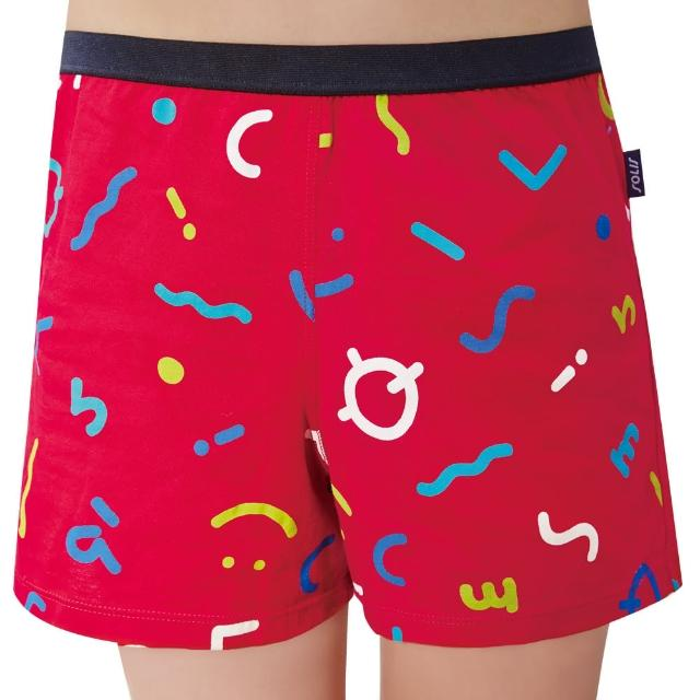 【Swear 思薇爾】SOLIS 快樂頌系列120-150印花四角男童褲(拉丁紅)