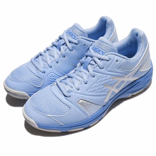 【asics 亞瑟士】排球鞋 Gel-Domain 4 運動 女鞋 亞瑟士 低筒 舒適 透氣 球類 女 藍 銀(E659Y3993)