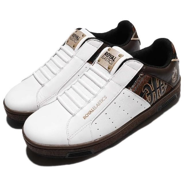 【ROYAL Elastics】休閒鞋 Icon 懶人鞋 復古 男鞋 低筒 運動 基本款 穿搭推薦 男 白 咖啡(02081073)