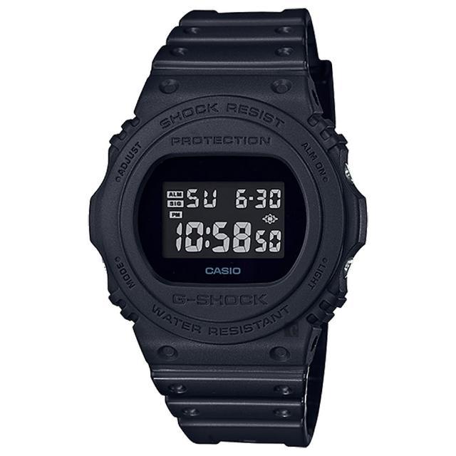 【CASIO 卡西歐】G-SHOCK 35周年復刻電子錶-全黑(DW-5750E-1BDR)