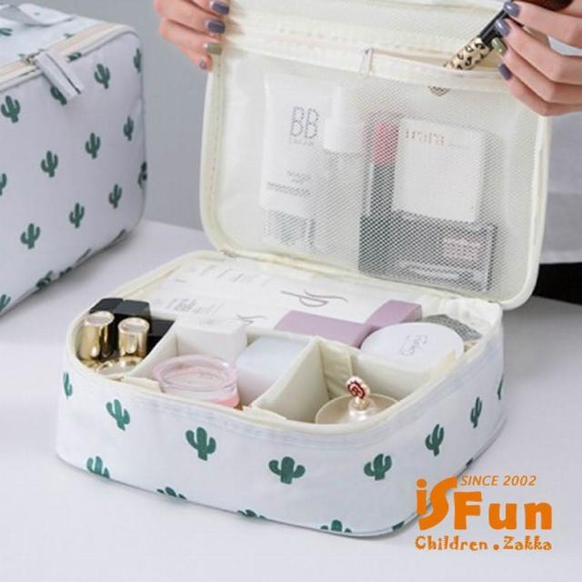 【iSFun】立體鋪棉*動物盥洗化妝箱包/仙人掌