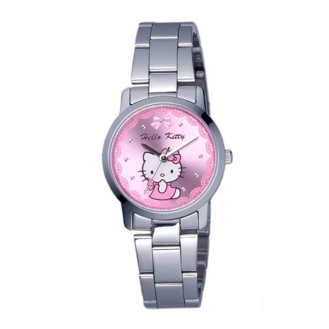 【HELLO KITTY】凱蒂貓可愛滿分俏麗手錶(粉紅 LK680LWPI)