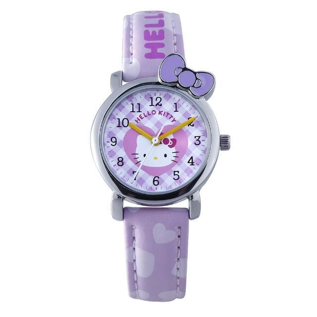 【HELLO KITTY】凱蒂貓蝴蝶結戀人手錶(紫 KT065LWVV)