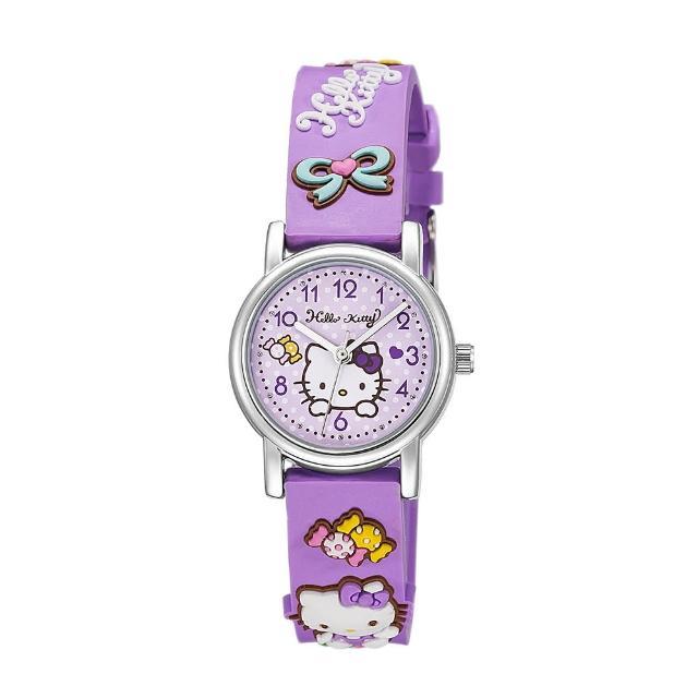 【HELLO KITTY】凱蒂貓生動迷人立體圖案手錶(紫 KT015LWVV)