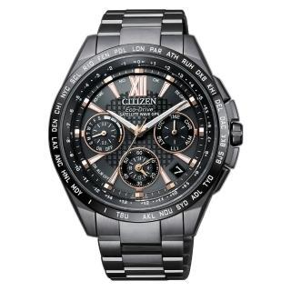 【CITIZEN 星辰】限量款光動能GPS衛星對時錶鈦金屬腕錶-黑(CC9017-59G)