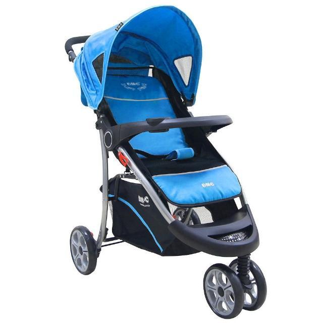 【EMC】歐式豪華三輪嬰兒推車-附蚊帳雨罩(天空藍)