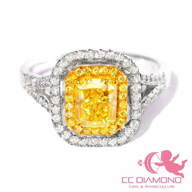 【CC Diamond】典藏一克拉黃彩鑽戒 FLY 1.09克拉(2018特惠價)