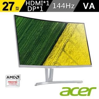 【acer 宏碁】ED273 A 27型 VA 144hz曲面無邊框電競螢幕