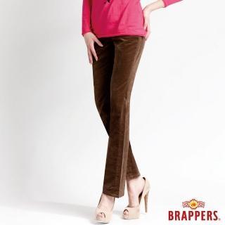 【BRAPPERS】女款 中腰彈性平面絨鑲鑽小喇叭褲(綠)