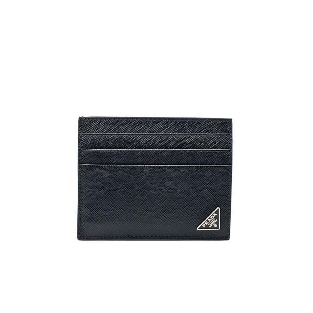 【PRADA 普拉達】2MC223 黑 小三角牌(扁式卡夾)