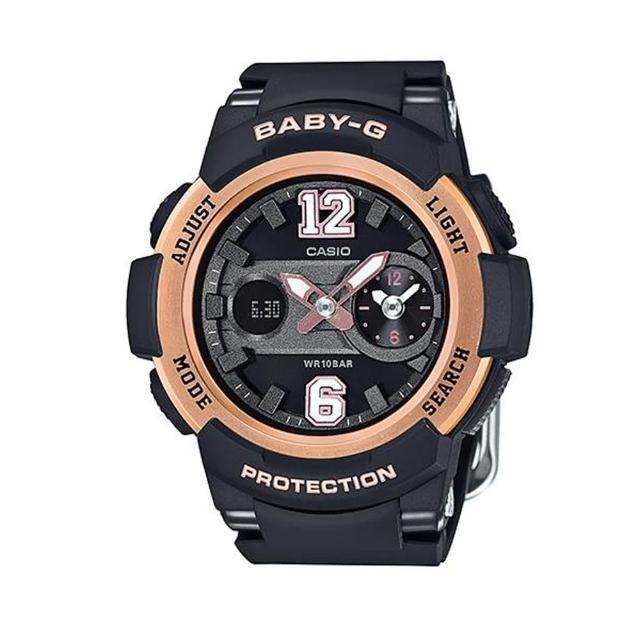 【CASIO 卡西歐】BABY-G/時尚霸氣甜美運動錶/玫瑰金(BGA-210-1BDR)