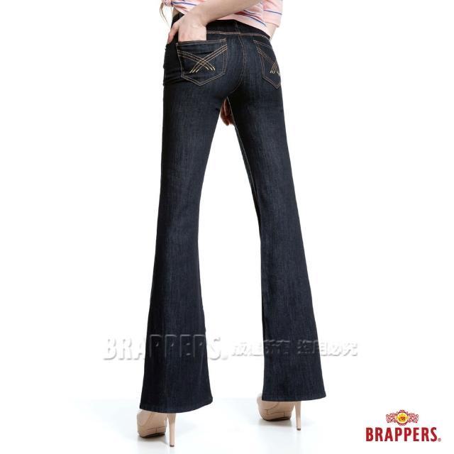 【BRAPPERS】女款 新美腳Royal系列-彈性寬版大喇叭褲(水洗藍)