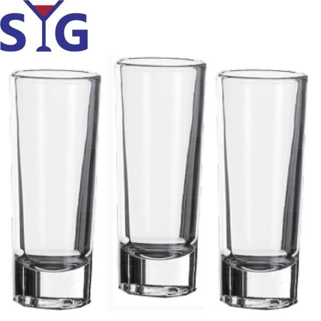 【SYG 台玻】玻璃直式清酒杯60cc(三入組)