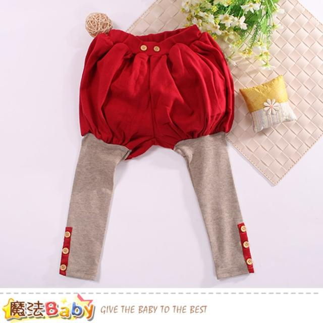 【魔法Baby】女童裝 假兩件燈籠褲(k60614)