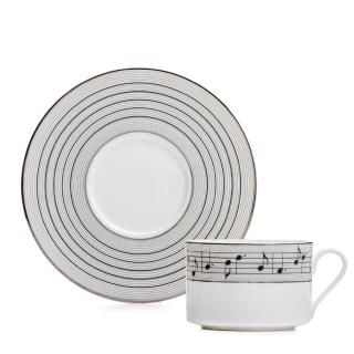 【Royal Duke】骨瓷咖啡花茶對杯-旋律250ml(二杯二碟)