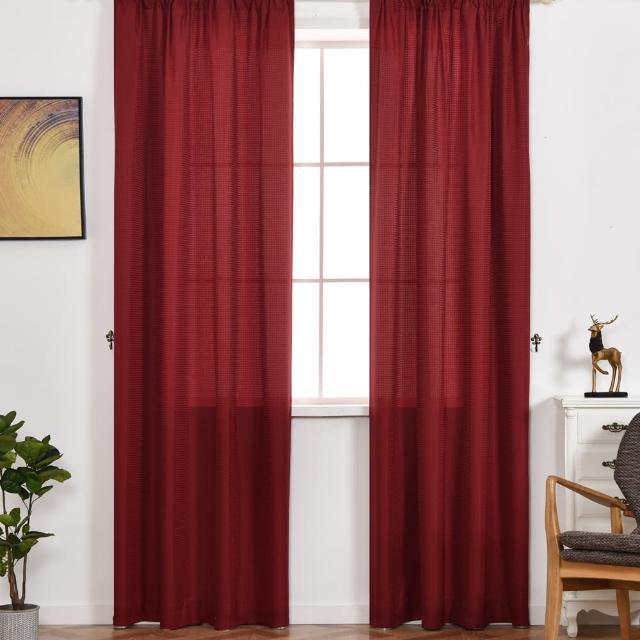 【伊美居】羅浮宮單層半腰窗簾