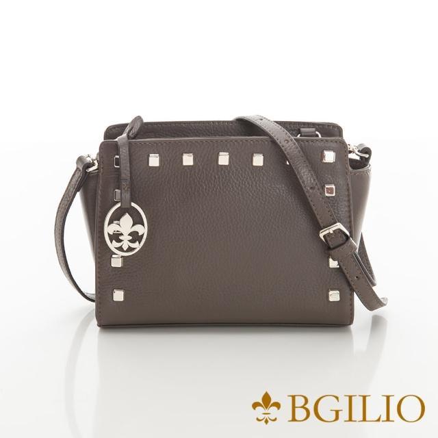 【義大利BGilio】搖滾甜美鍊帶牛皮小包-咖啡色(2291.001A-03)