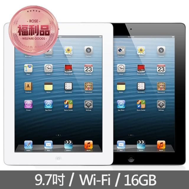 【Apple 蘋果】福利品 iPad 4th Wi-Fi 16GB 平板電腦(A1458)
