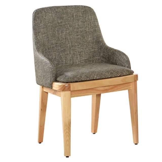 【AT HOME】現代簡約實木耐磨貓抓皮餐椅-兩款可選(51x46x83cm/荷比)