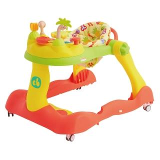 【Creative Baby】糖果版多功能音樂折疊式三合一學步車助步車組(靜音輪新升級、加裝減速片更安全)