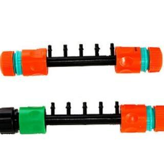 【灑水達人】六分轉兩分接頭可同時一次接五條2分小黑管含一末端接頭x2(轉接套裝)