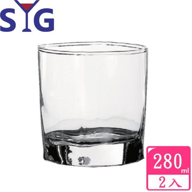 【SYG 台玻】四方威士忌杯280cc(二入組)