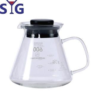 【SYG 台玻】精緻耐熱花茶咖啡壺–黑蓋(BH605A)