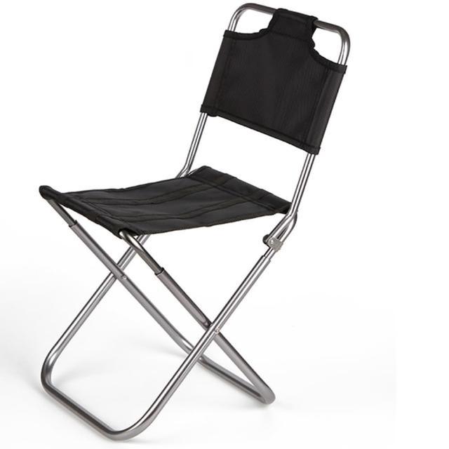 【May Shop】牛津布有椅背輕便摺疊椅子