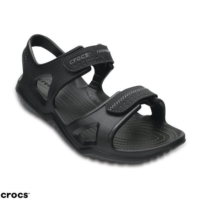 【Crocs】男鞋 男士激浪涉水涼鞋(203965-060)