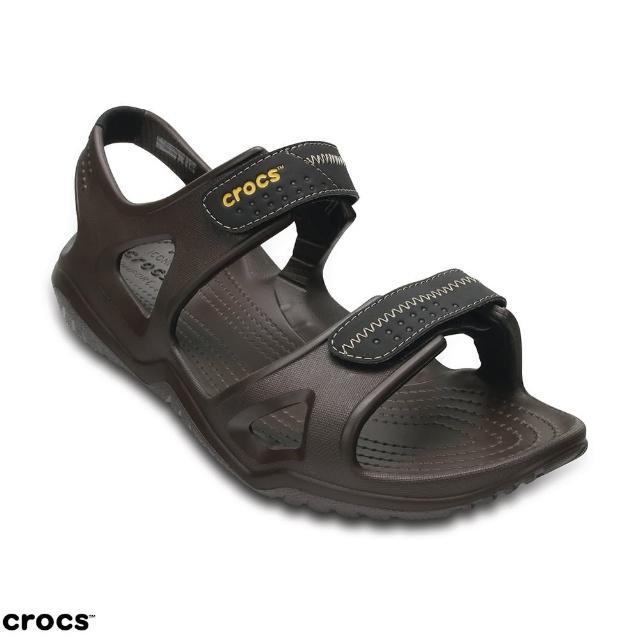 【Crocs】男鞋 男士激浪涉水涼鞋(203965-23K)