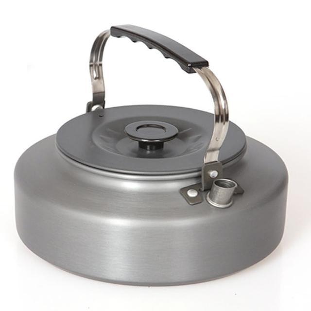 【May Shop】野外茶壺野營鋁合金1.1L咖啡壺便攜開水壺