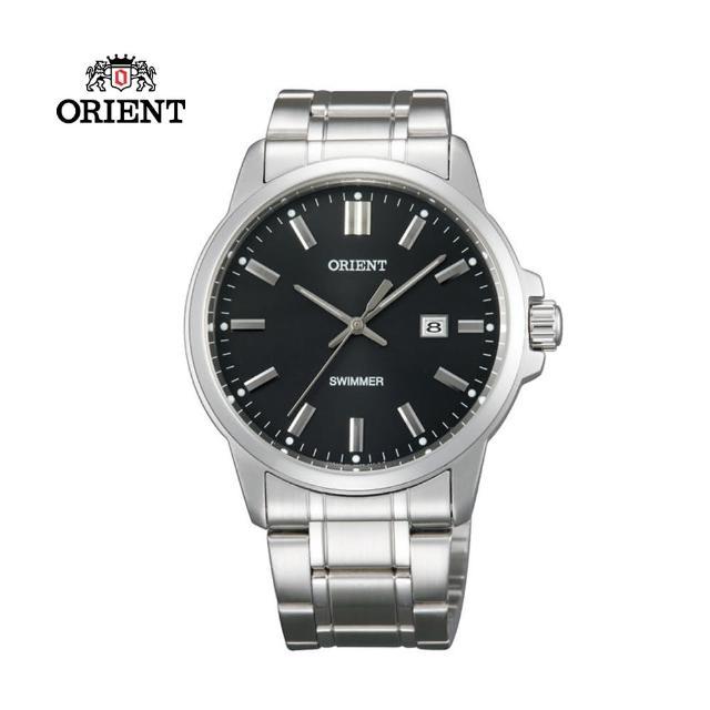 【ORIENT 東方錶】ORIENT 東方錶 OLD SCHOOL系列 復古風石英錶 鋼帶款 黑色-41.0 mm(SUNE5003B)