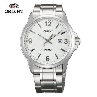 【ORIENT 東方錶】ORIENT 東方錶 OLD SCHOOL系列 復古風石英錶 鋼帶款 白色-41.0 mm(SUNE5005W)