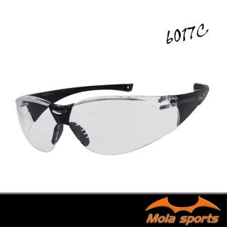 【MOLA】摩拉護目鏡運動安全眼鏡 透明鏡片(防飛沫防風防沙防塵男女可戴 6017c)