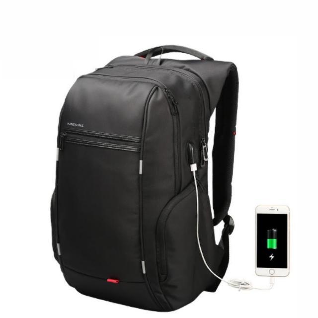 【leaper】KINGSONS 防水防盜USB充電13.3吋電腦後背包(USB充電筆電包)