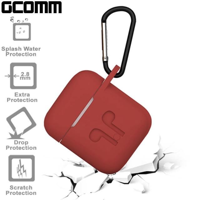 【GCOMM】Apple AirPods 藍芽耳機增厚保護套 熱情紅(GCOMM AirPods 保護套)