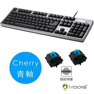 【i-Rocks】IRK68MNF側刻無背光指紋辨識機械式鍵盤-德國Cherry軸