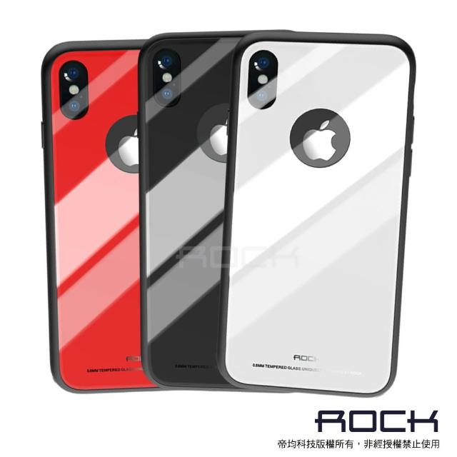 【ROCK】iPhone X 晶莹系列-钢化玻璃手机保护壳